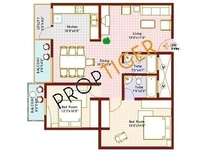 Vanshee Vanshee Citadel (2BHK+2T (1,203 sq ft) Apartment 1203 sq ft)
