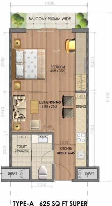 Imperia Rubix (1BHK+1T (625 sq ft) Apartment 625 sq ft)
