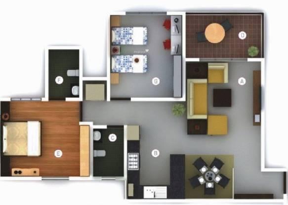 Vilas Javdekar Palash 2i (2BHK+2T (1,100 sq ft) Apartment 1100 sq ft)