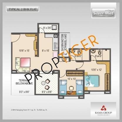 Rama Silver Mist (2BHK+2T (924 sq ft) Apartment 924 sq ft)
