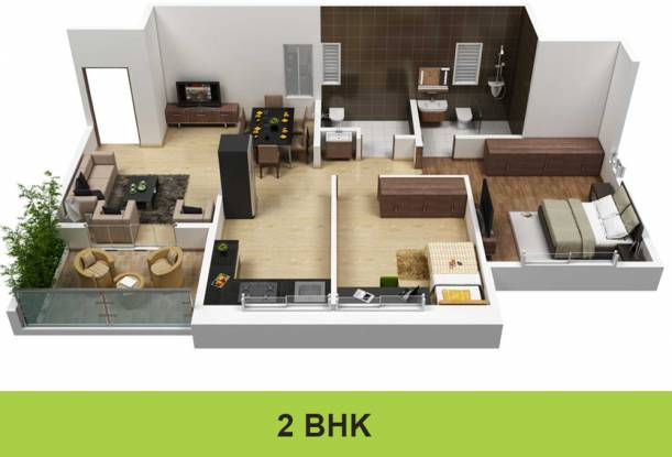 Darode Greenland County (2BHK+2T (800 sq ft) Apartment 800 sq ft)