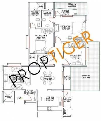 Sobha Chrysanthemum (3BHK+3T (1,867 sq ft) Apartment 1867 sq ft)