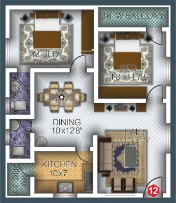 Vaibhav Signature (2BHK+2T (1,086 sq ft) Apartment 1086 sq ft)