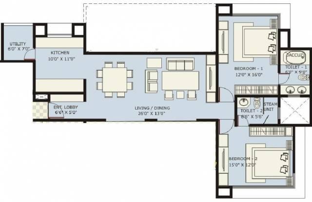 Marvel Ritz (2BHK+2T (1,510 sq ft) Apartment 1510 sq ft)