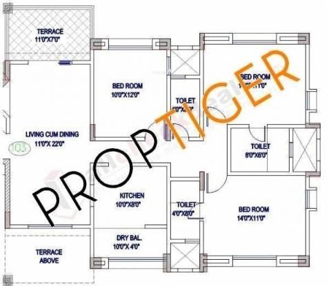 Magarpatta Trillium (3BHK+3T (1,530 sq ft) Apartment 1530 sq ft)
