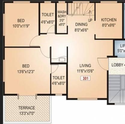 Parmar Silver Nest (2BHK+2T (1,065 sq ft) Apartment 1065 sq ft)