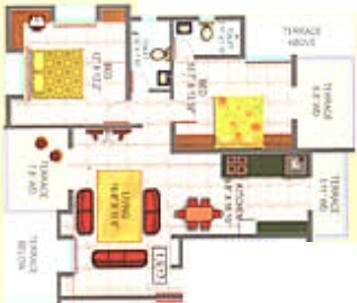 Delta Melodies (2BHK+2T (1,139 sq ft) Apartment 1139 sq ft)