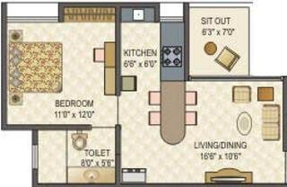 Mittal ParkWayz (1BHK+1T (630 sq ft) Apartment 630 sq ft)