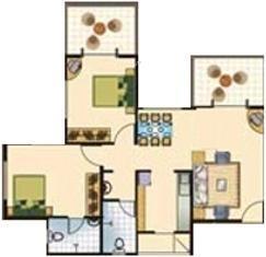 Vasant Avenue (2BHK+2T (900 sq ft) Apartment 900 sq ft)