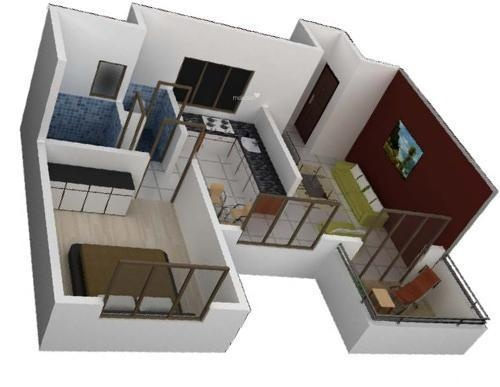 Vardhaman Vardhaman Heights Phase2 (1BHK+1T (710 sq ft) Apartment 710 sq ft)