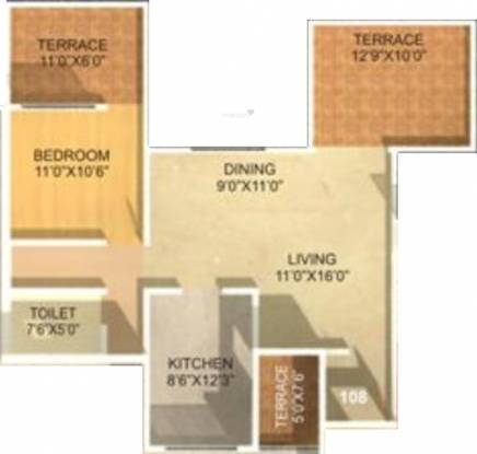 Sonigara Kesar (1BHK+1T (940 sq ft) Apartment 940 sq ft)