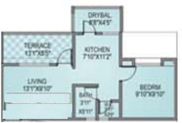 Vishal Arc Glory (1BHK+1T (587 sq ft) Apartment 587 sq ft)