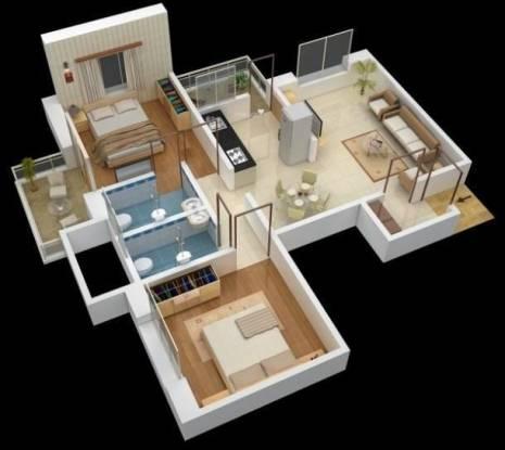 Omega Paradise (2BHK+2T (945 sq ft) Apartment 945 sq ft)