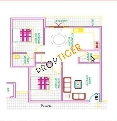 Hoysala Sowparnika (2BHK+2T (1,062 sq ft) Apartment 1062 sq ft)