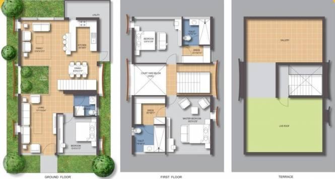 Samskruti Maurya (3BHK+3T (2,756 sq ft)   Study Room Villa 2756 sq ft)