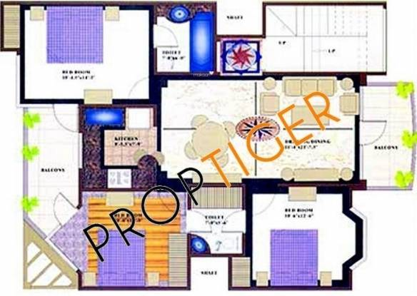 SS Southend (3BHK+3T (1,250 sq ft) Apartment 1250 sq ft)
