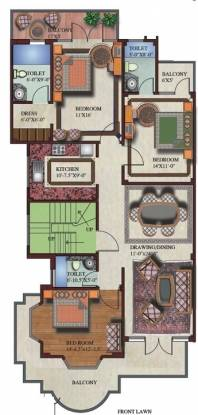 SS The Palladians (3BHK+3T (1,500 sq ft) Apartment 1500 sq ft)