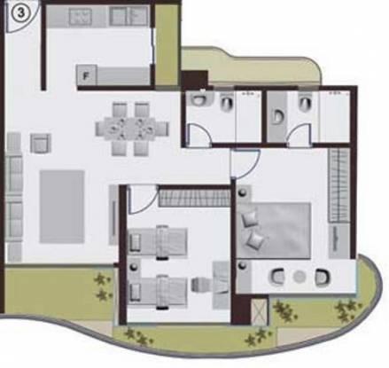Adhiraj Cypress (2BHK+2T (1,136 sq ft) Apartment 1136 sq ft)