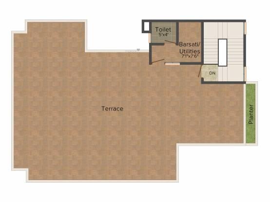Unitech Birch Court (3BHK+3T (1,577 sq ft) Villa 1577 sq ft)