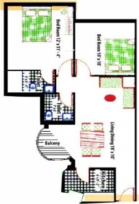 Vibgyor Mira Garden (2BHK+2T (900 sq ft) Apartment 900 sq ft)