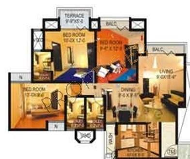 Adhiraj Magnolia (3BHK+3T (1,430 sq ft) Apartment 1430 sq ft)