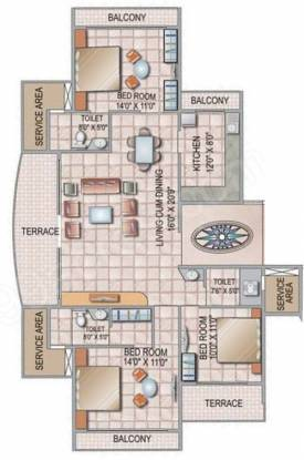 Siddhi Grandeur (3BHK+3T (1,550 sq ft) Apartment 1550 sq ft)