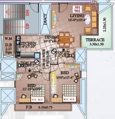 Shree Highness (2BHK+2T (1,173 sq ft) Apartment 1173 sq ft)
