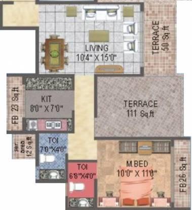 BKS Orion (1BHK+2T (650 sq ft) Apartment 650 sq ft)