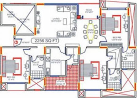 TVH Lumbini Square (3BHK+3T (2,256 sq ft) Apartment 2256 sq ft)