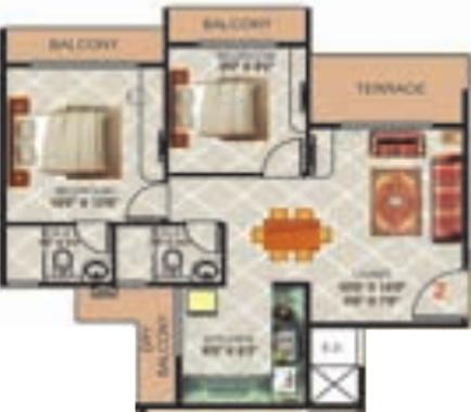 Gami Radha Krishna Complex (2BHK+2T (1,053 sq ft) Apartment 1053 sq ft)