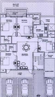 Ardee Platinum Independent Floors (4BHK+4T (1,575 sq ft) Apartment 1575 sq ft)