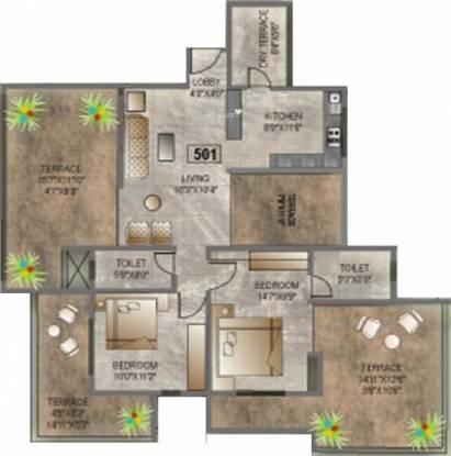 Alliance Belair (2BHK+2T (1,215 sq ft) Apartment 1215 sq ft)