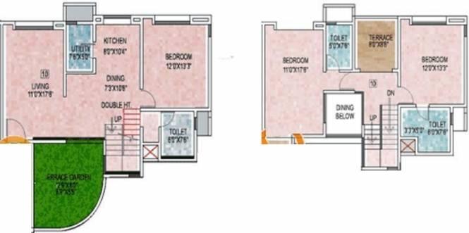 Alliance Babylon (3BHK+3T (2,078 sq ft) Apartment 2078 sq ft)