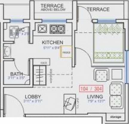 Yugal Studios 16 (1BHK+1T (500 sq ft) Apartment 500 sq ft)
