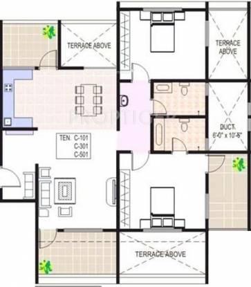 Paranjape Crystal Garden (2BHK+2T (1,200 sq ft) Apartment 1200 sq ft)