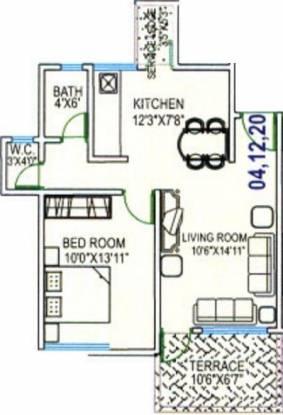 Dutt Sai Datt Residency (1BHK+1T (653 sq ft) Apartment 653 sq ft)