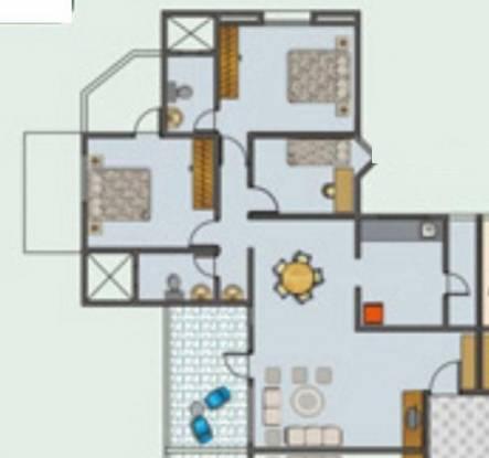 Sanjay Selenite (2BHK+2T (1,376 sq ft) + Study Room Apartment 1376 sq ft)