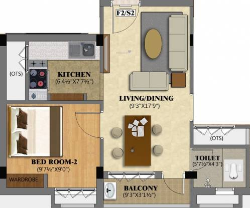Pearl Blossom (1BHK+1T (499 sq ft) Apartment 499 sq ft)