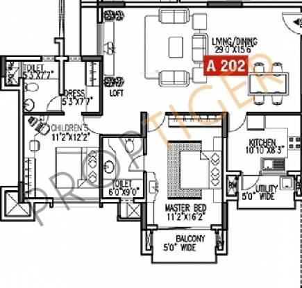 Godrej Woodsman Estate (2BHK+2T (1,470 sq ft) Apartment 1470 sq ft)