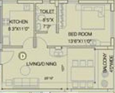 Space Club Town Greens (1BHK+1T (800 sq ft) Apartment 800 sq ft)