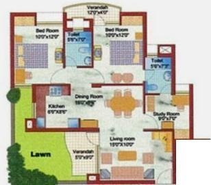 Samiah Vrinda City (2BHK+2T (1,130 sq ft) Apartment 1130 sq ft)