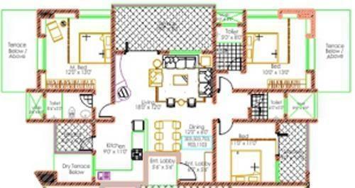 Bhujbal Damodar Residency (3BHK+3T (1,800 sq ft) Apartment 1800 sq ft)