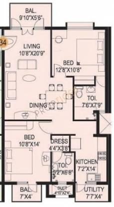 Mahaveer Varna (2BHK+2T (1,181 sq ft) Apartment 1181 sq ft)