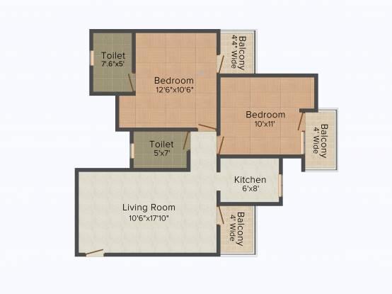 Nimbus Express Park View 2 (2BHK+2T (984 sq ft) Apartment 984 sq ft)