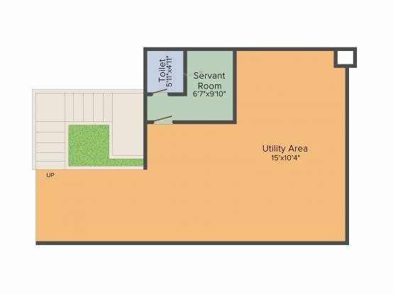 Ideal Ideal Villas (3BHK+3T (3,042 sq ft)   Servant Room Villa 3042 sq ft)