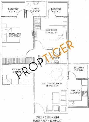 Balaji Libra Heights (3BHK+2T (1,550 sq ft) Apartment 1550 sq ft)