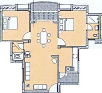 DABC Abhinayam Phase 1 (2BHK+2T (976 sq ft) + Study Room Apartment 976 sq ft)