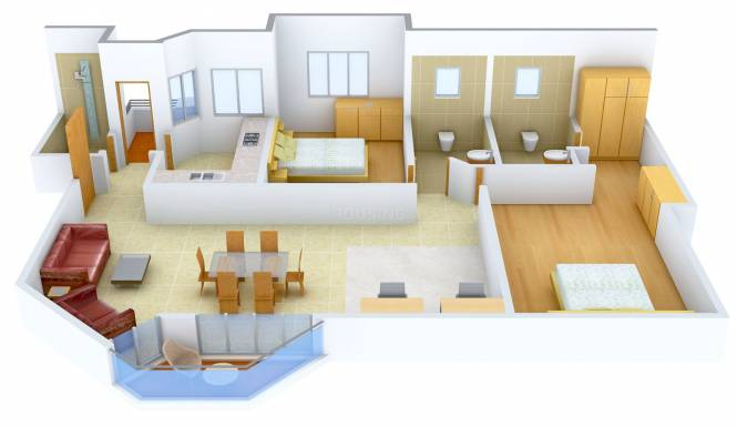 Jaypee The Star Court (2BHK+2T (1,698 sq ft) Apartment 1698 sq ft)