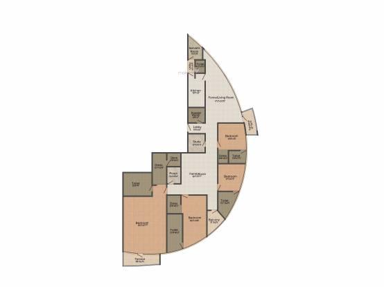 Jaypee The Sun Court (4BHK+4T (3,850 sq ft) Apartment 3850 sq ft)