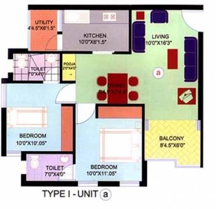 Macro Apoorva (2BHK+2T (610 sq ft) Apartment 610 sq ft)